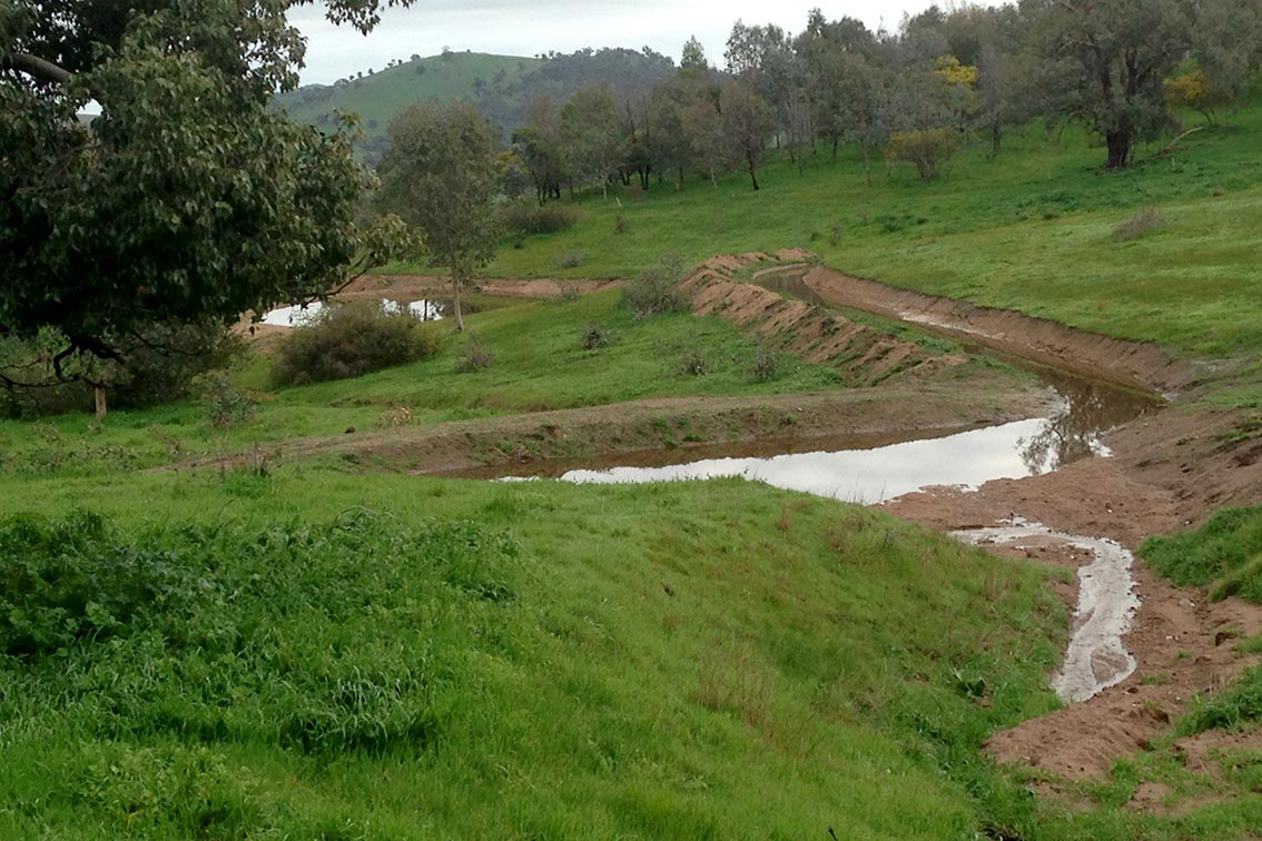 Water flow farm landscape-2